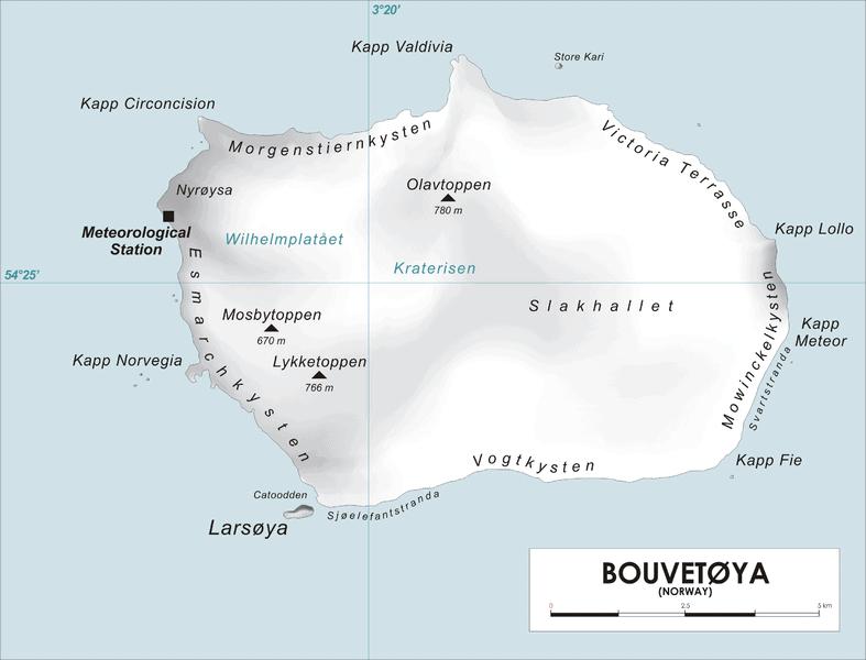 mapa isla bouvet isla más remota del mundo
