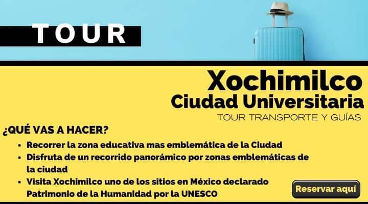 Tour Xochimilco y Ciudad Universitaria. Arte El Souvenir