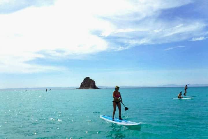 Paddle Board. Foto On Board Baja