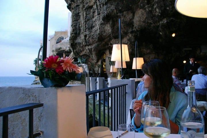 Vista al mar en Grotta