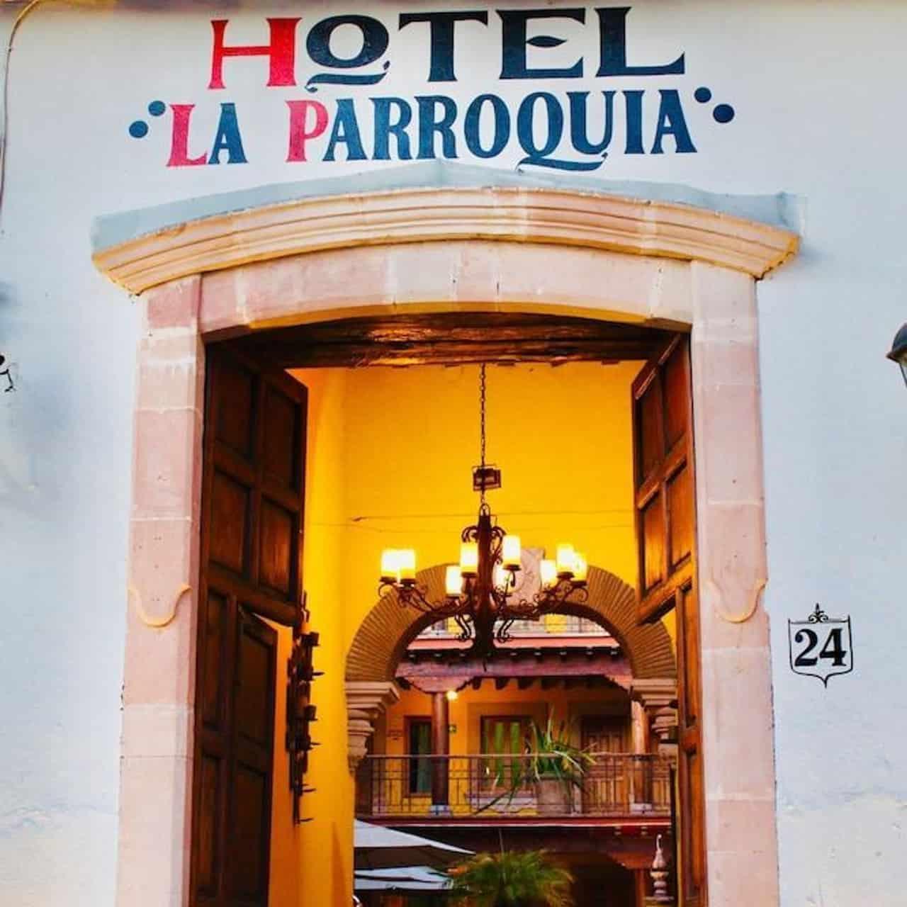 Dónde hospedarse en Pátzcuaro Veracruz. Hotel La Parroquia. Foto: HRS