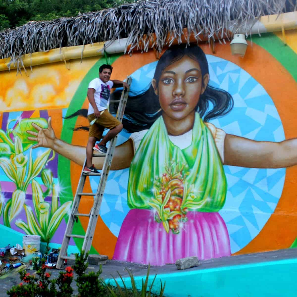 Murales de Papantla Veracruz. Foto: Pepe Martinez