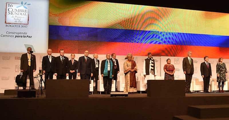Premios Nobel de la Paz, Bogotá. Foto: Dinero