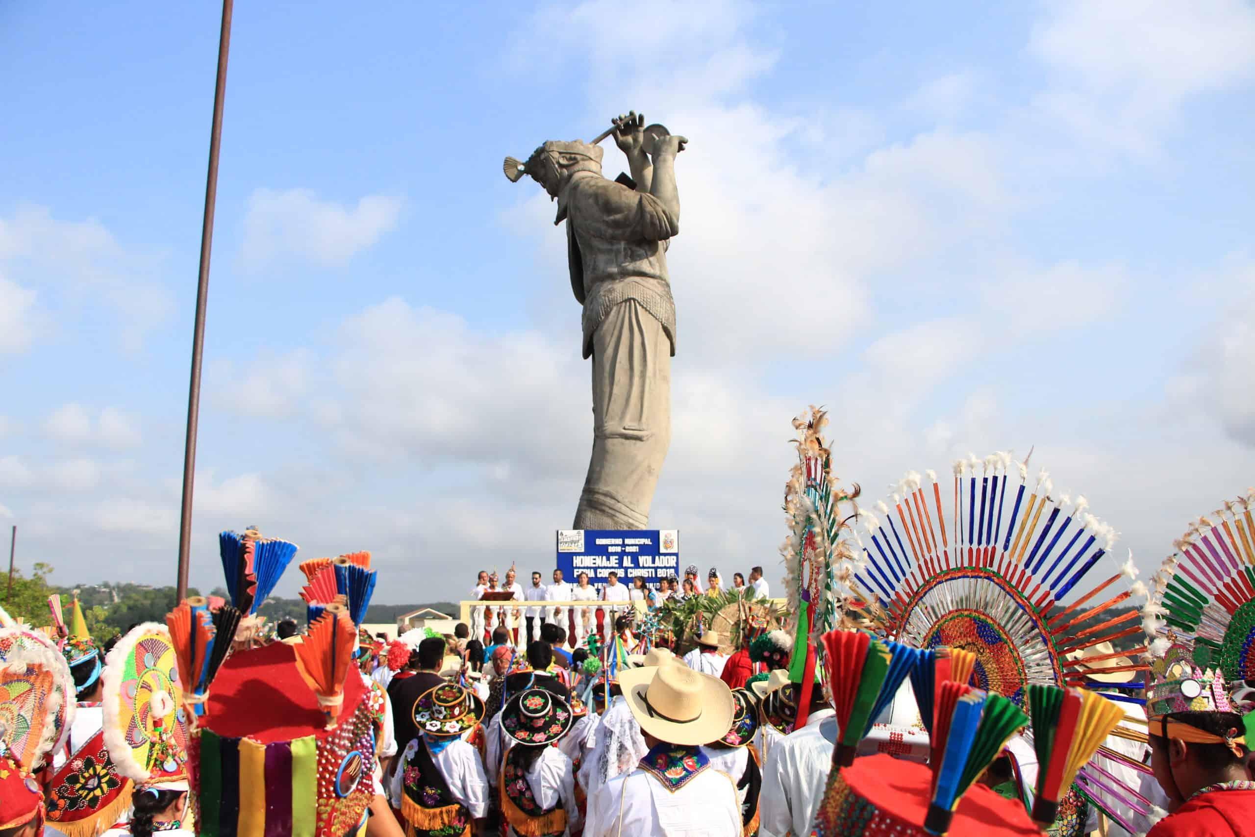 Papantla, Veracruz. Foto: Papantla en pleno vuelo