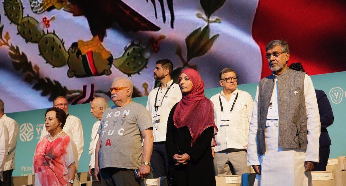 Premios Nobel de la Paz en Yucatan. Foto: Renán Barrera