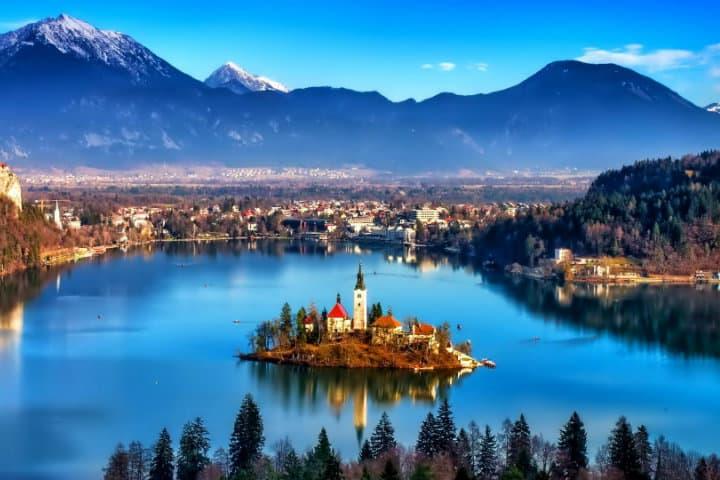 Lago de Bled, vista panorámica. Foto Eslovenia Info