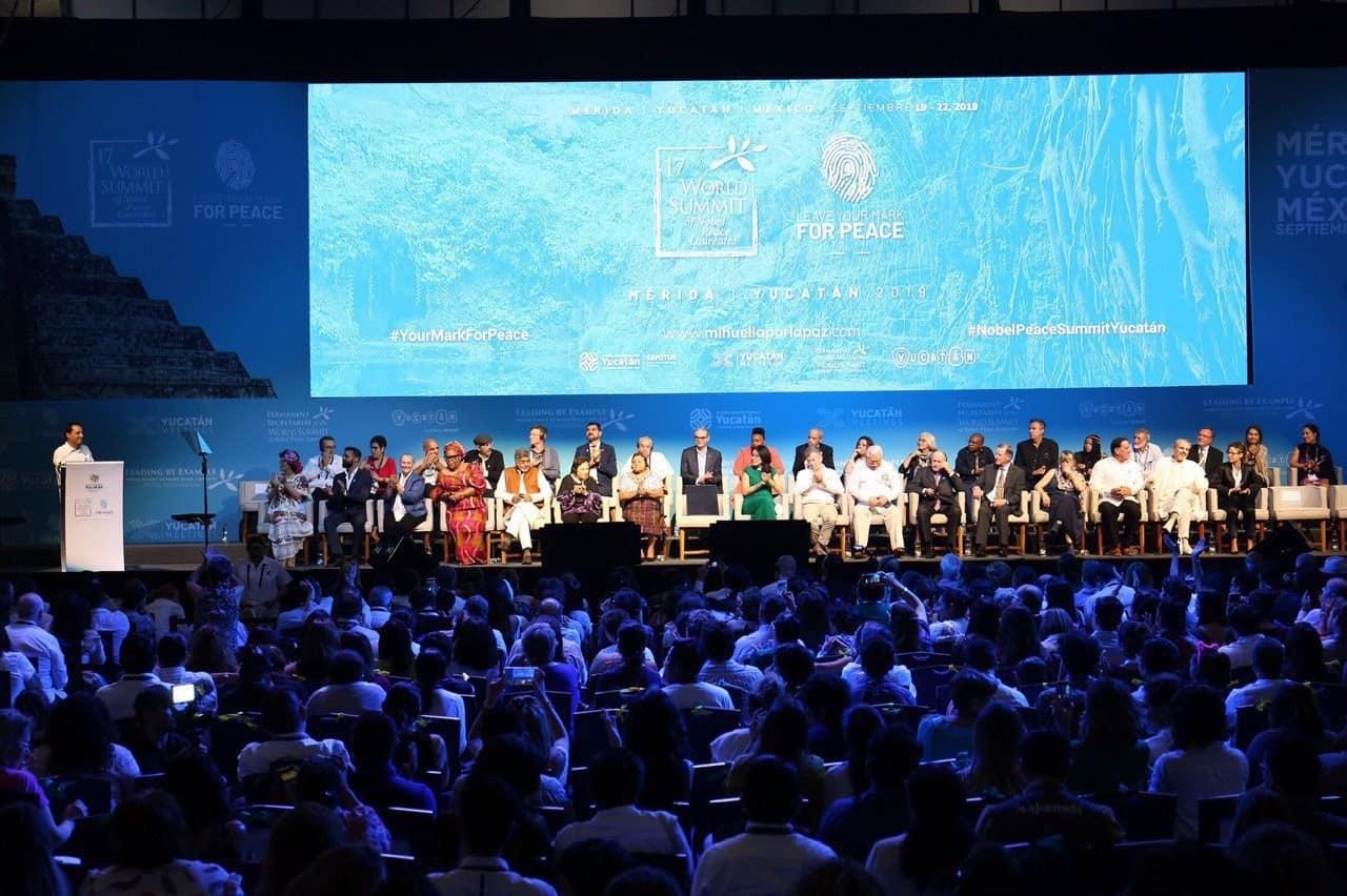 Premios Nobel de la Paz en Yucatan. Foto: Mipuntodevista
