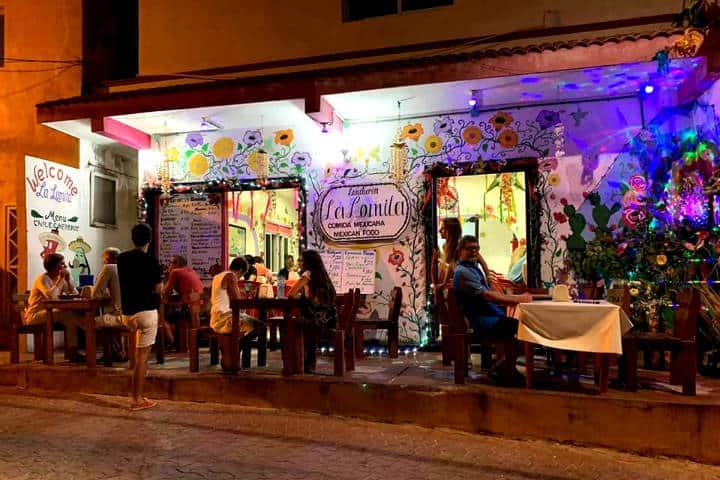 Dónde comer en isla mujeres Foto Restaurante La Lomita