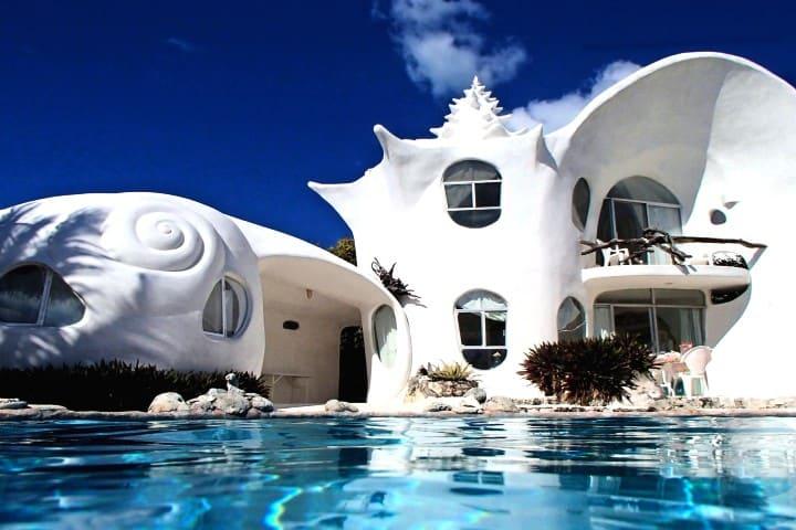 Dónde hospedarse en Isla Mujeres Foto Seashell house
