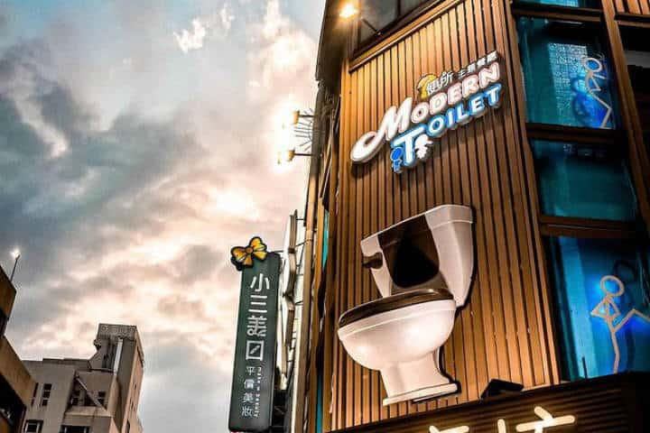 Restaurante Modern Toilet en Tipei. Foto eleftherialy