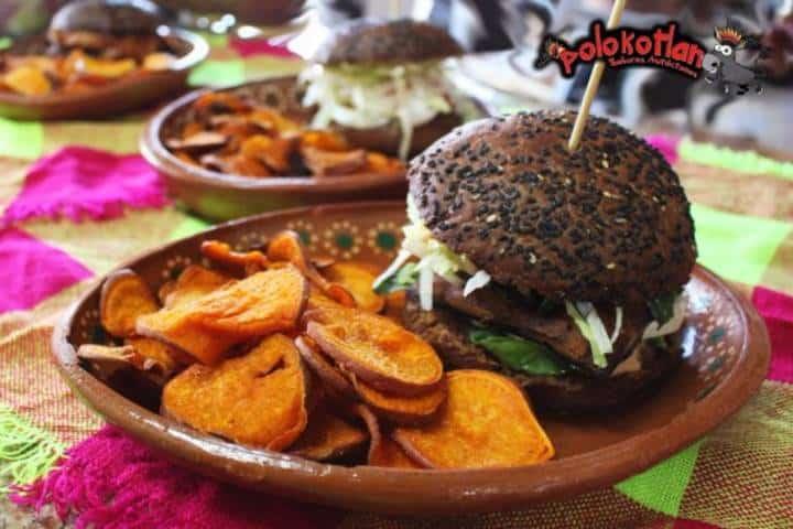 hamburguesa vegetariana Polokotlan. Foto TripAdvisor