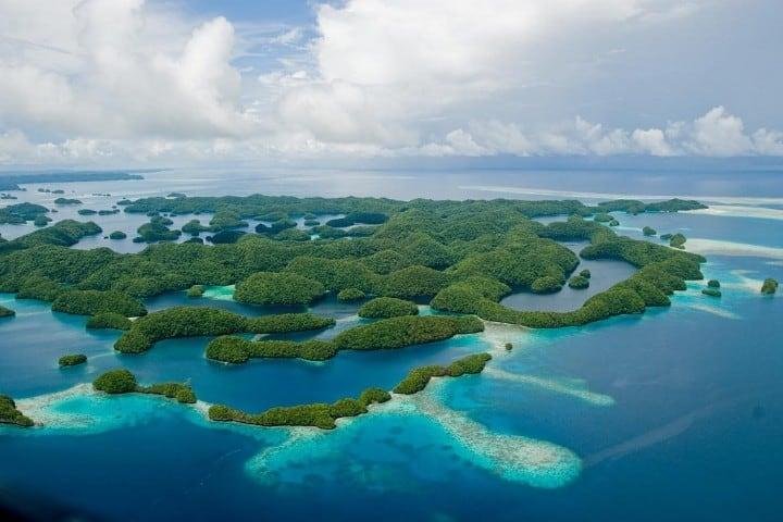 Una hermosa postal es la que otorgan estas islas de Palaos Foto: Viaje al Patrimonio