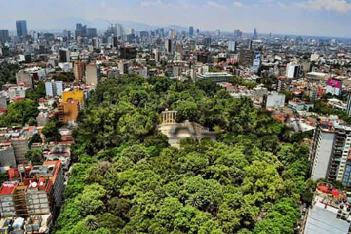 Parque México. Condesa. Foto. Foto aerea México