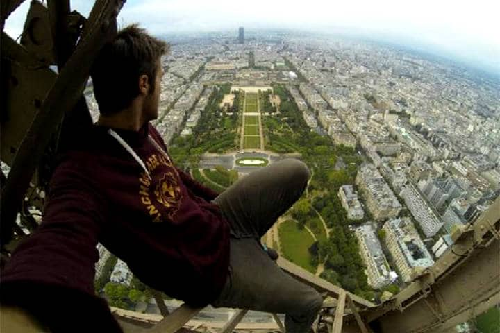 Rooftopping en Torre Eiffel James Kingston