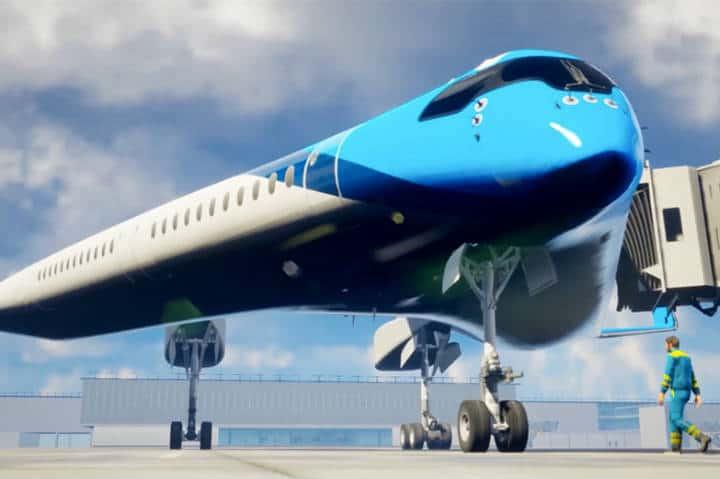 Avión en forma de Guitarra de KLM Foto KLM 2