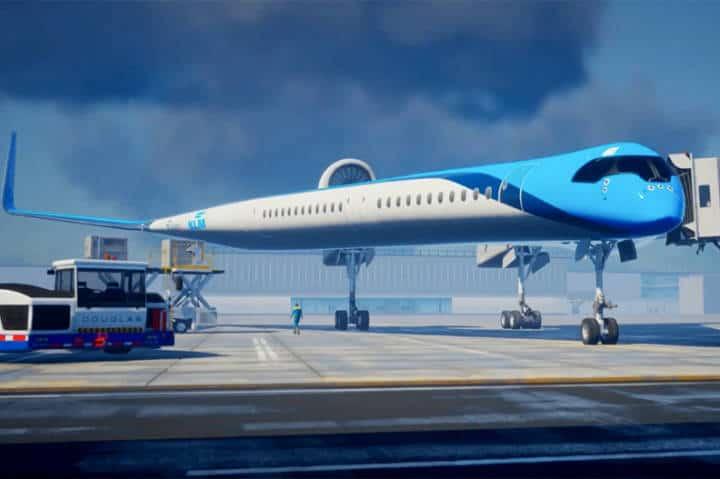 Avión en forma de Guitarra de KLM. Foto KLM