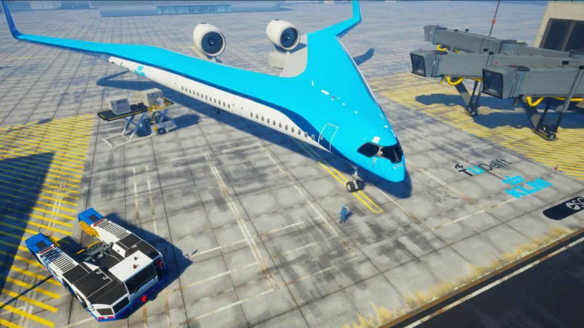 Avión en forma de Guitarra de KLM. Foto KLM.