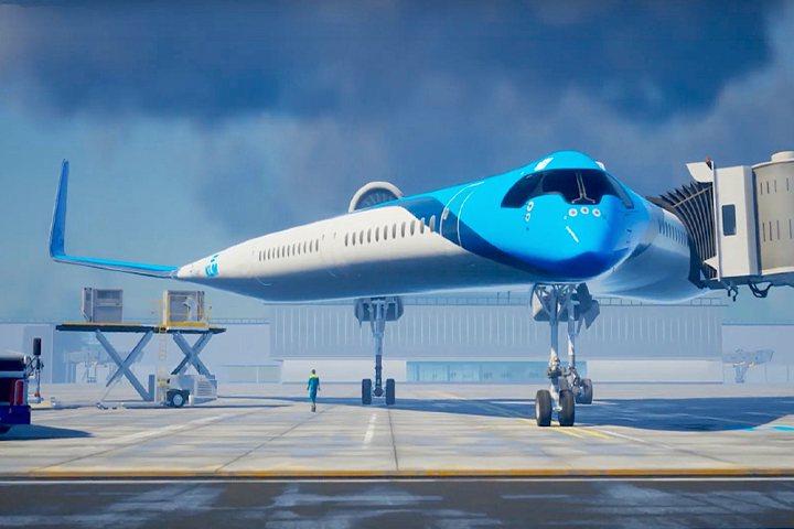Avión en forma de Guitarra de KLM. Foto Leisure & Lux.