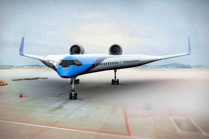Avión en forma de Guitarra de KLM. Foto Uncrate.