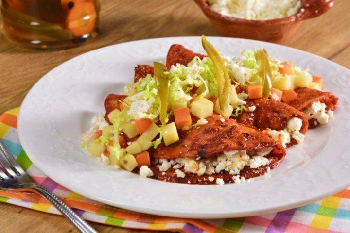 Enchiladas mineras. Foto Kiwilimón.