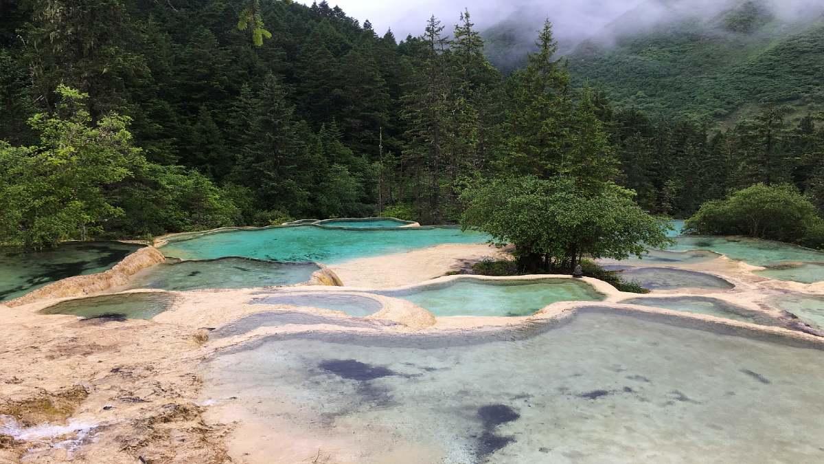 Huanglong Aguas Termales. Foto Bruceli.