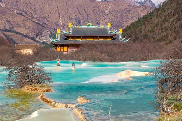 Huanglong Aguas Termales. Foto Chris Travel Blog.