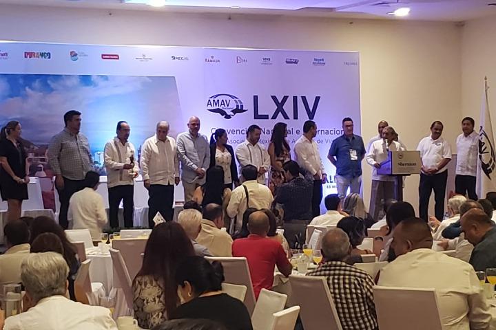 LXIV Convención Internacional y Nacional de la Asociación Mexicana de Agentes de Viajes (AMAV Nacional). Foto_ Contralinea net
