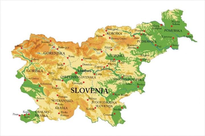 Mapa de Eslovenia. Foto: Oleg Brovko. Foto: Proyecto Mapamundi