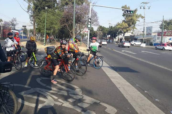 Mejores rutas para cicloturismo en México. Principiante. Imagen Ciclistas unidos cdmx