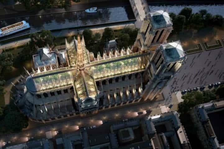 Reconstrucción de Notre Dame Francia Foto El Mundo