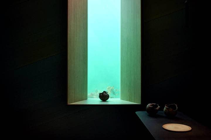 Restaurante bajo el agua Foto Under