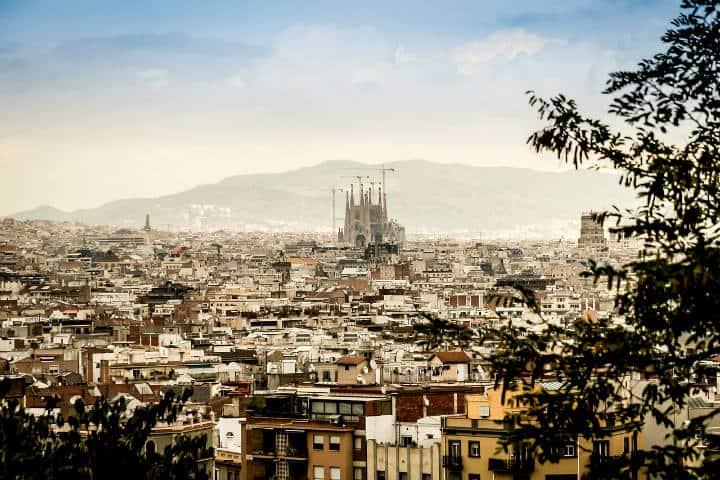 Roftop bars Barcelona Foto Archivo