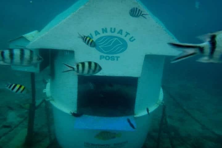 Underwater post office. Foto Casey Wruck