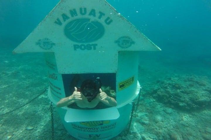 Underwater post office. Foto