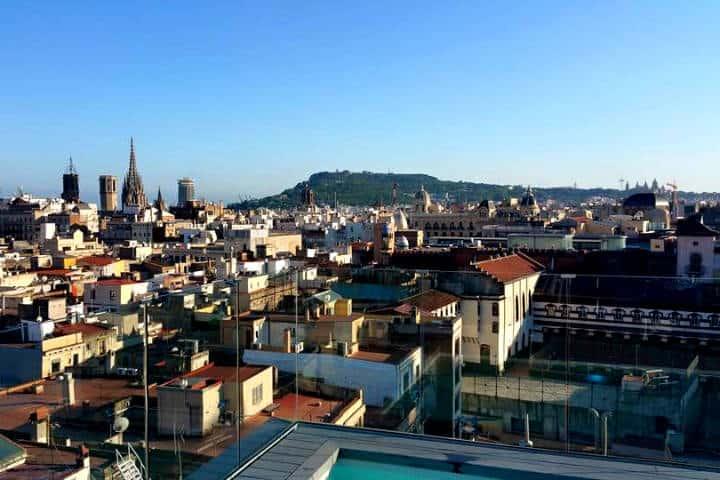 Roftop bars de Barcelona Plat Únic Hotel Trafalgar