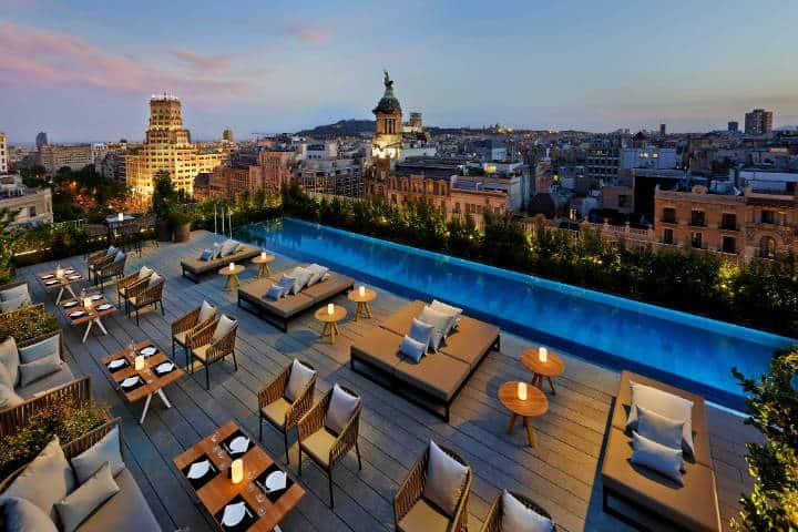 Roftop bars de Barcelona Terrat Hotel Mandarin Barcelona