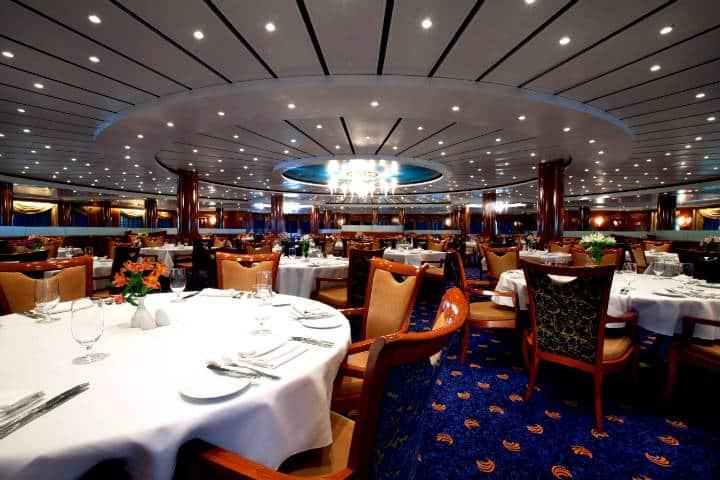 Restaurante del crucero. Foto LogiNews