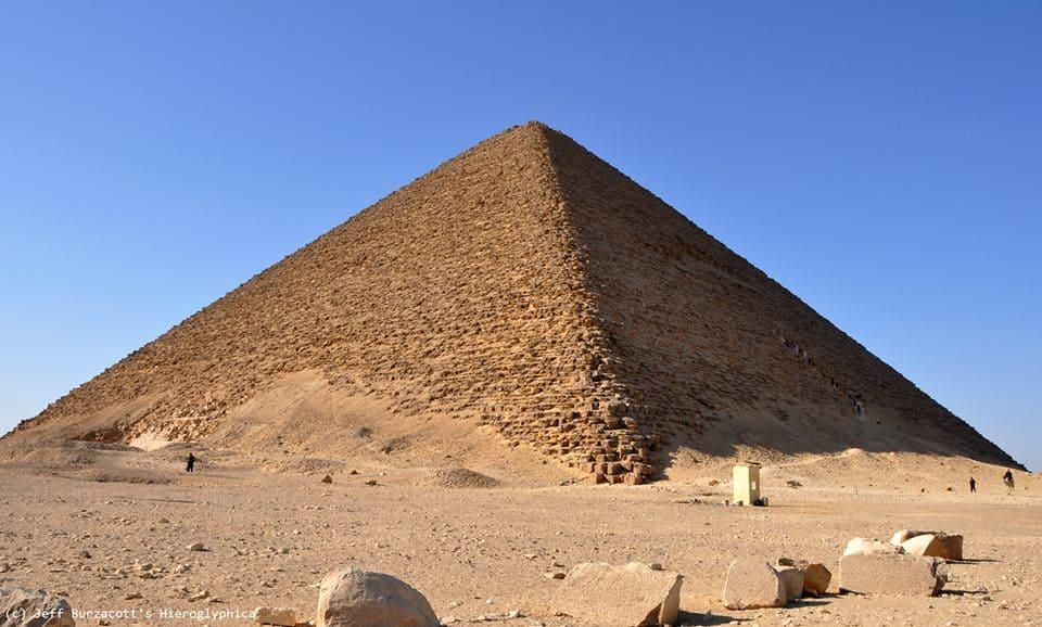 Pirámide en Egipto. La Roja. Foto: EcuRed