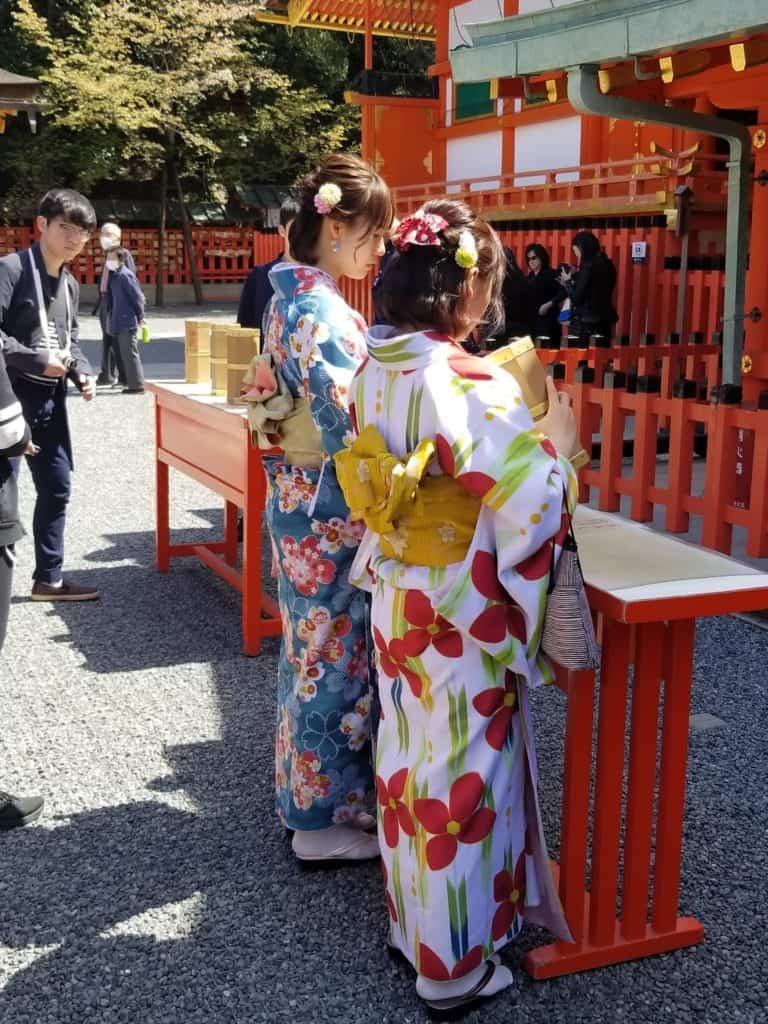 Santuario Torii en Japón. Foto: Elisa Nievas