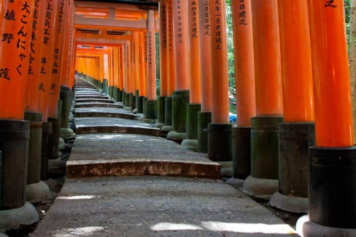 Santuario de las mil puertas Torii en Japón