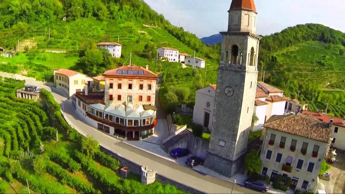Las colinas de Prosecco di Conegliano, Italia. Foto: Ahora Roma