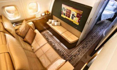 Asientos de avión innovadores.Mega ricos