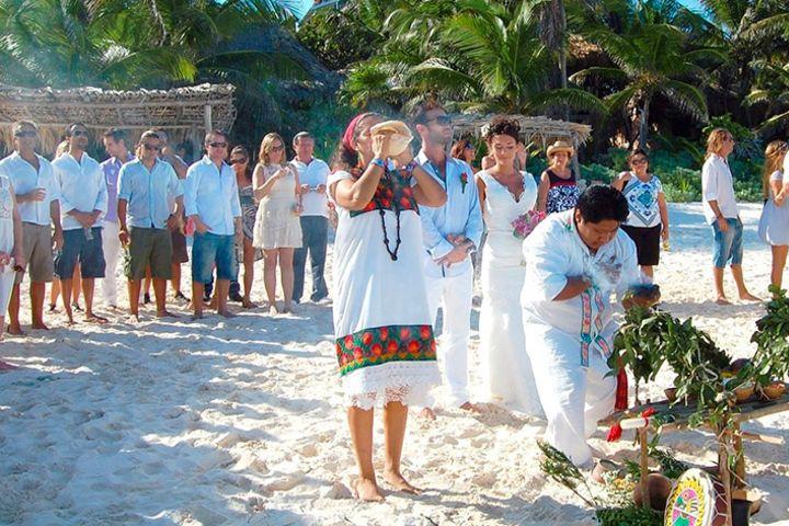Ritual Maya de la union. Foto_ Hard Rock Hotels