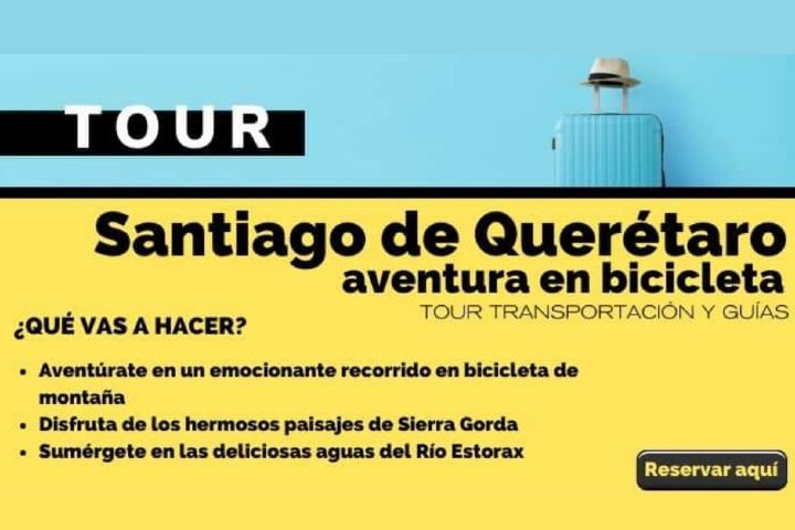 Tour Santiago de Querétaro, aventura en bicicleta. Arte El Souvenir