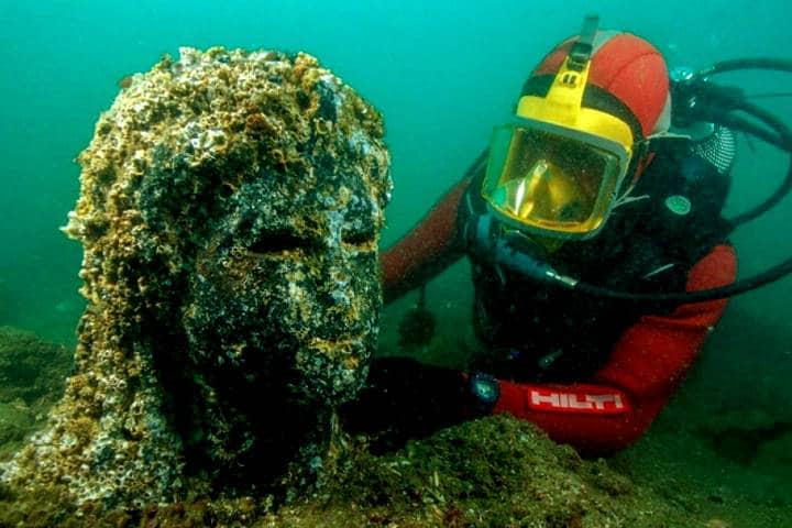 Ciudades bajo el agua que puedes explorar Foto Heracleion