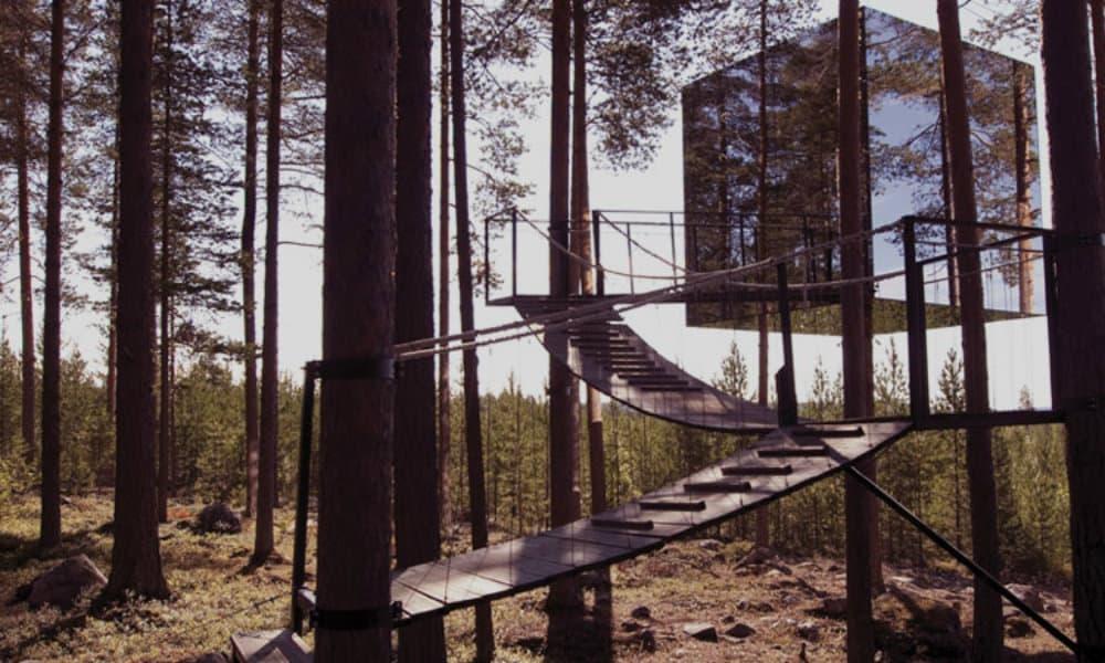 Treehotel ¡hospédate en los árboles! Foto. Treehotel