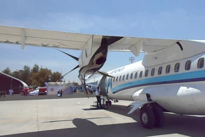 Mi primer viaje en un avión de turbohélice Foto. Yotube/Merino Cansino