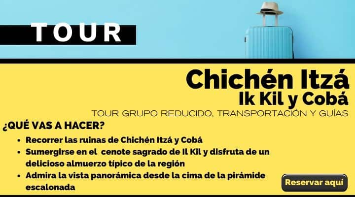 Tour en grupo reducido a Chichén Itzá, Ik Kil y Cobá. Arte El Souvenir