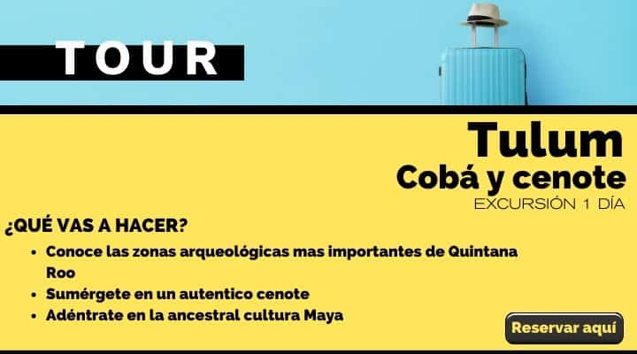 Tour Tulum, Cobá y cenote. Arte El souvenir