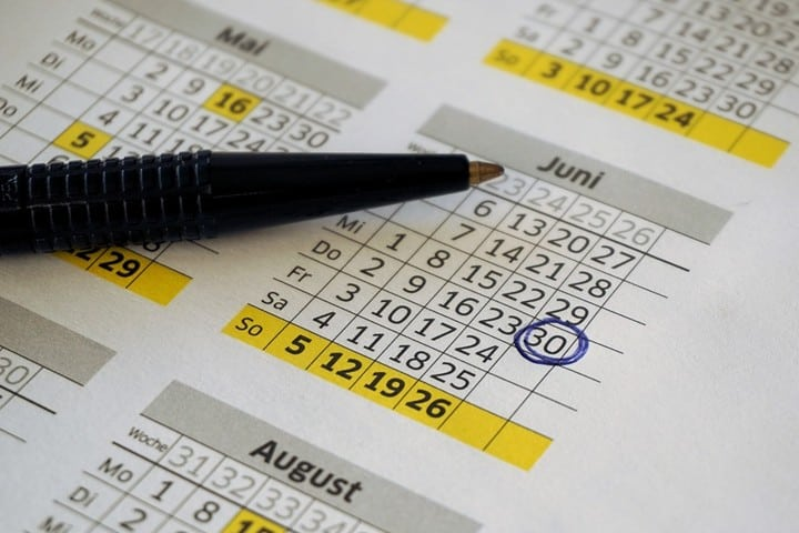 Calendario. Foto Webandi.